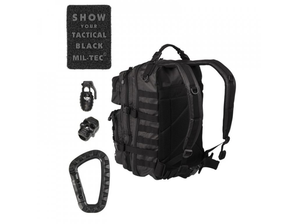 2019d251f Mil-Tec Batoh US ASSAULT PACK Large tactical black - BestArmy