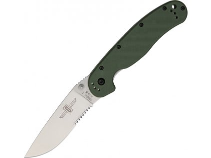 Nůž Ontario RAT 1 Silver Seratted green