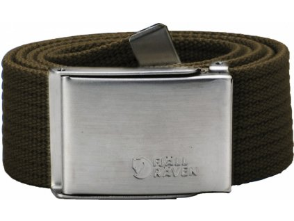 Opasek Fjällräven Canvas Belt dark olive