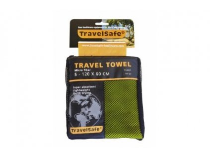 Ručník TravelSafe Microfiber Towel S lime green