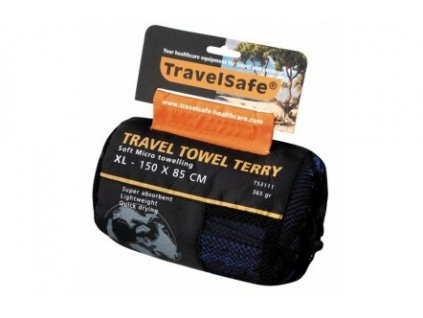 Ručník TravelSafe Microfiber Terry Towel XL royal blue