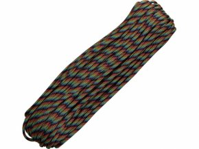 Paracord 550 / padáková šňůra - military dark stripes