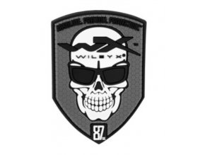 Patch Skull 55x80 Grey