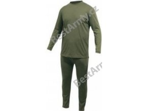 Mil-Tec Thermokomplet fleece na zip oliv