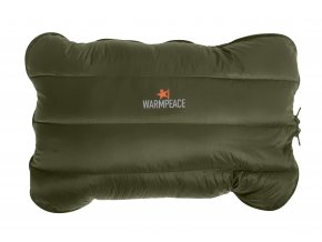 4389 Down Pillow zippered olive filled close