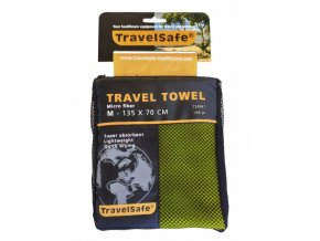 Ručník TravelSafe Microfiber Towel M lime green