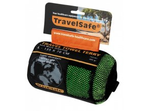 Ručník TravelSafe Microfiber Terry Towel L jasper green