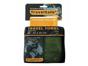 Ručník TravelSafe Microfiber Towel XS lime green