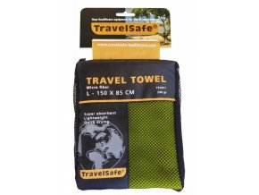 Ručník TravelSafe Microfiber Towel L lime green