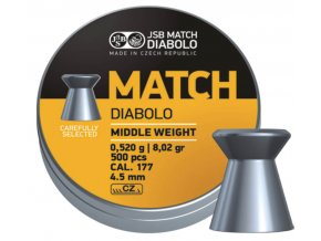Diabolo JSB Yellow Match Middle Weight cal.4,5