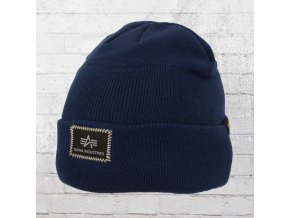 alpha industries strick muetze x fit beanie blau 168905 rep blue 1