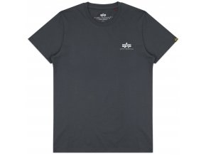 Alpha Industries Basic Tee Small Logo Greyblack Front