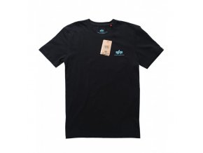 alpha industries small logo tricko cierno modre black blue