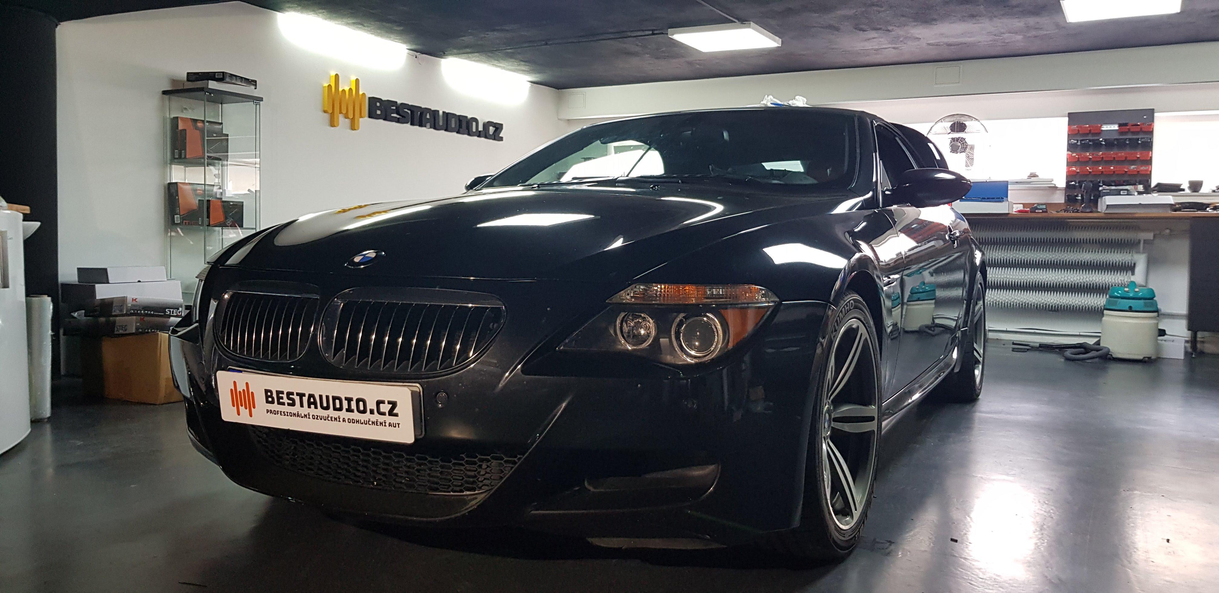 BMW M6 – kompletní ozvučení a náhrada systému LOGIC 7