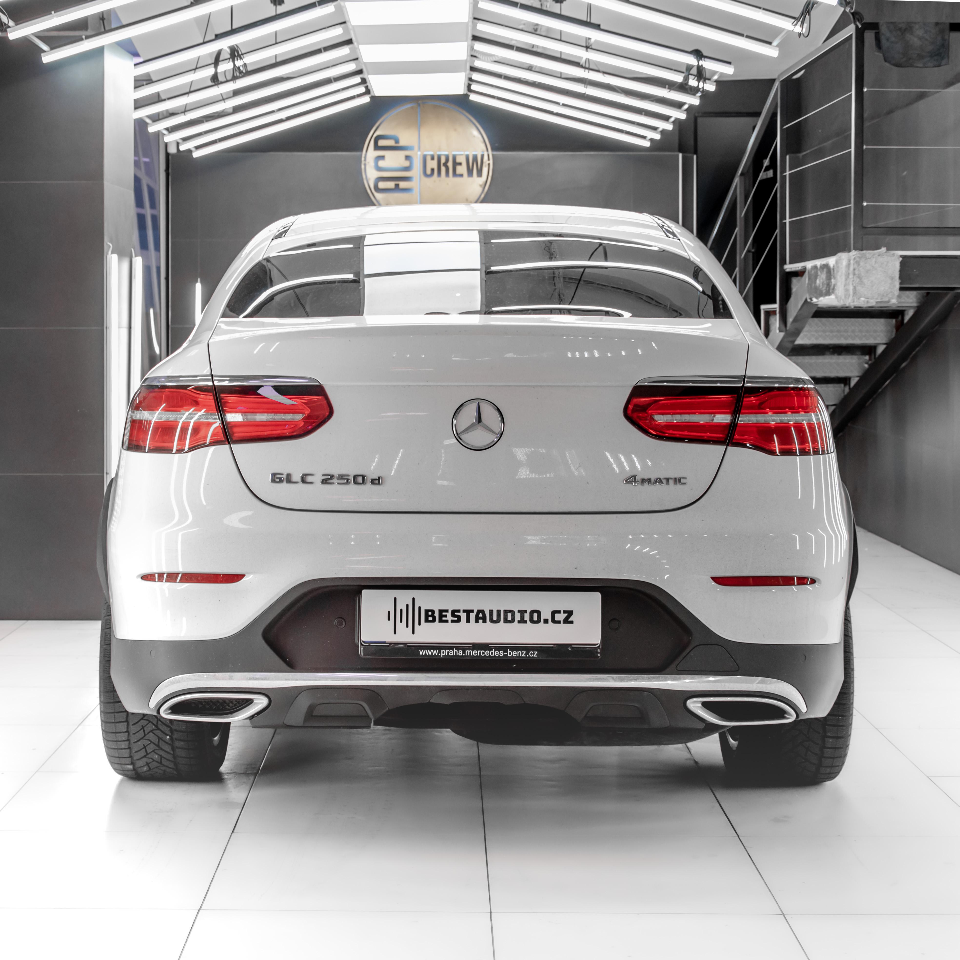 Mercedes GLC Coupe – Instalace prémiového audio systému (Alternativa místo Burmesteru)