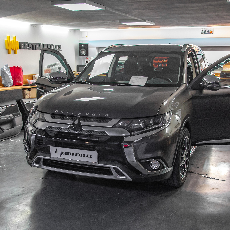 Nové Mitsubishi Outlander - Ozvučení a odhlučnění vozu