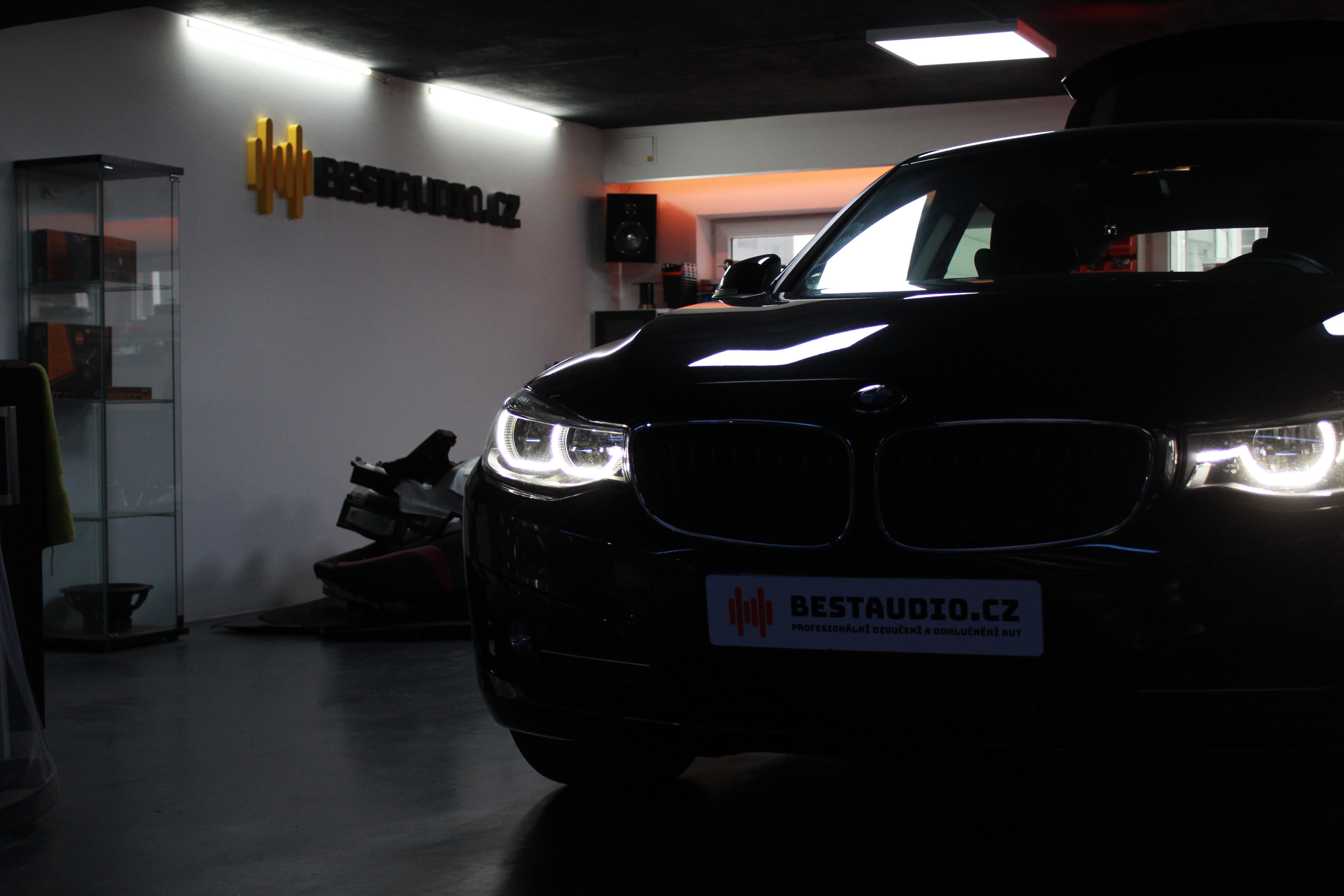 BMW 3 GT (F34) – ozvučení bez zásahu do vozu – upgrade premiového HiFi Sound Systému (option676)