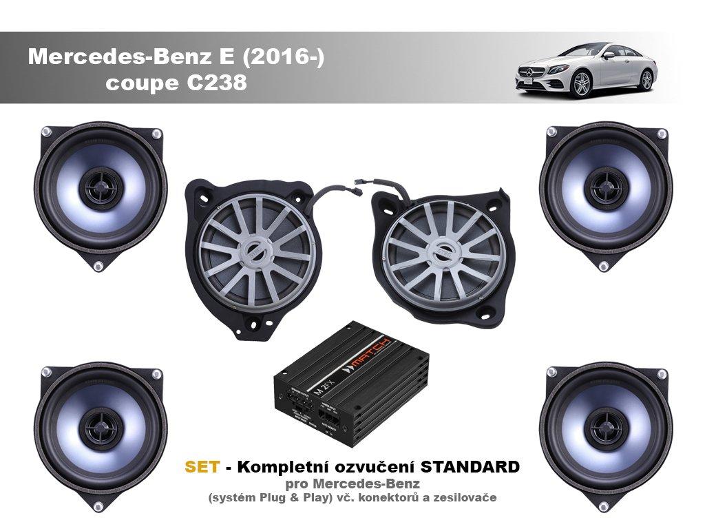 kompletni ozvuceni standard Mercedes Benz E (2016 ) coupe C238