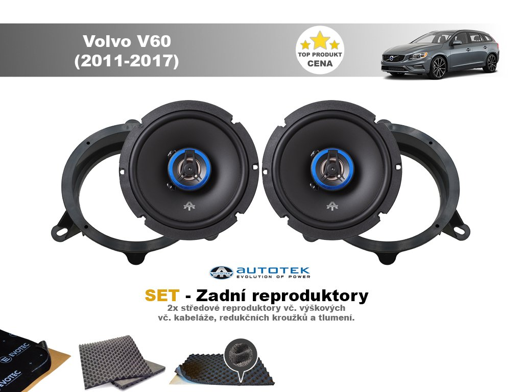 SET - zadní reproduktory do Volvo V60 (2011-2017) - Autotek