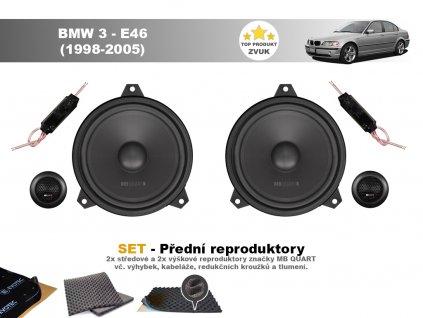 MBQ predni repro BMW 3 E46 (1998 2005)