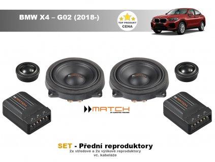 predni repro match BMW X4 – G02 (2018 )