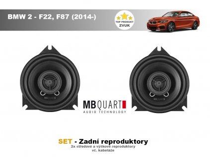 zadni repro MBQ BMW 2 F22, F87 (2014 )