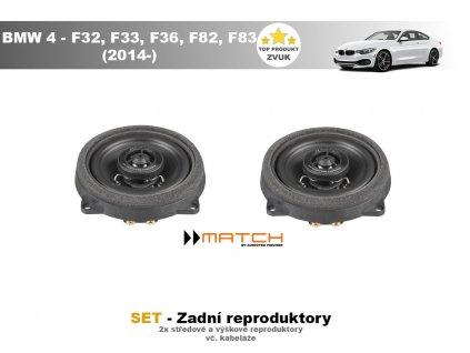 zadni repro match BMW 4 F32, F33, F82, F83 (2014 )
