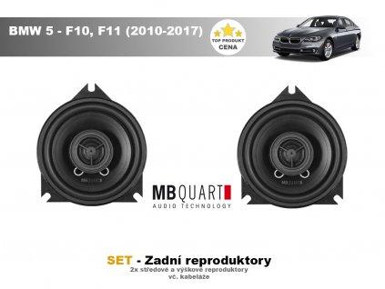 zadni repro MBQ BMW 5 F10, F11 (2010 2017)