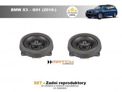 zadni repro match BMW X3 – G01 (2018 )