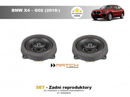 zadni repro match BMW X4 – G02 (2018 )