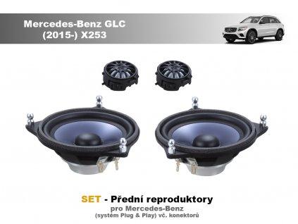 SET - přední reproduktory do Mercedes-Benz GLC (2015-) X253 - STEG BZ40A