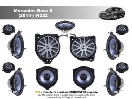 kompletni ozvuceni burmester Mercedes Benz S (2014 ) W222