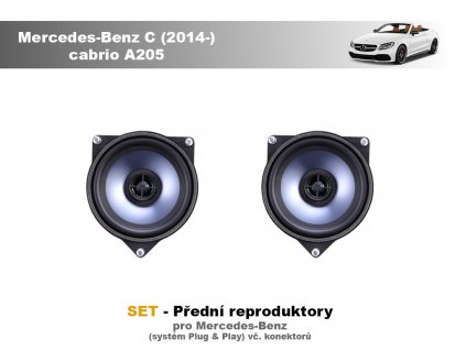 predni repro Mercedes Benz C (2014 ) cabrio A205