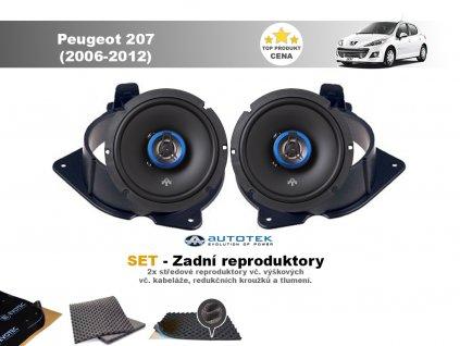 zadni repro Peugeot 207 (2006 2012)