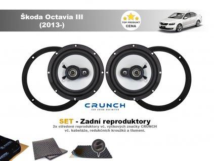 zadni repro Škoda Octavia III (2013 )