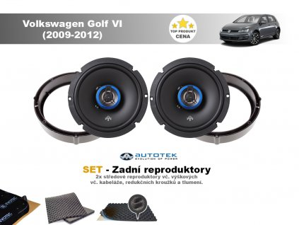 zadni repro Volkswagen Golf VI (2009 2012)