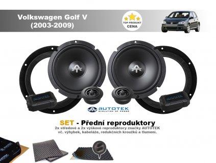 predni repro Volkswagen Golf V (2003 2009)