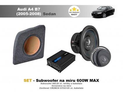 SET - subwoofer na míru do Audi A4 B7 Sedan (2005-2008) - Helix