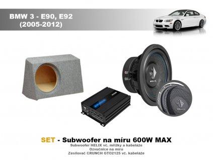 Subwoofery na míru kompletka E90,E92