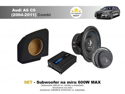 Subwoofer na míru Audi A6 C6 (2004 2011)