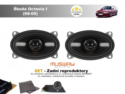 zadni repro Škoda Octavia I (98 05) ovaly