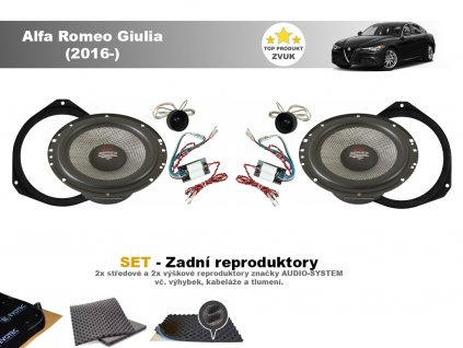 Alfa Romeo Gulia X Audio system zadni