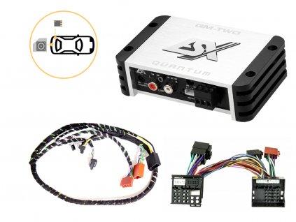 Zesilovač do Roomster (2006-2015) pro připojení subwooferu - ESX QM-TWO