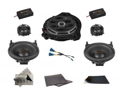 SET - kompletní ozvučení do Mercedes-Benz C (2014-) sedan W205 - UPGRADE 1