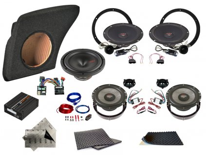 SET - kompletní ozvučení Bestaudio Premium do Volkswagen Passat B6 a B7 (2006-2014)