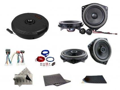 SET - kompletní ozvučení do Toyota Corolla (2001-2007) - UPGRADE 2