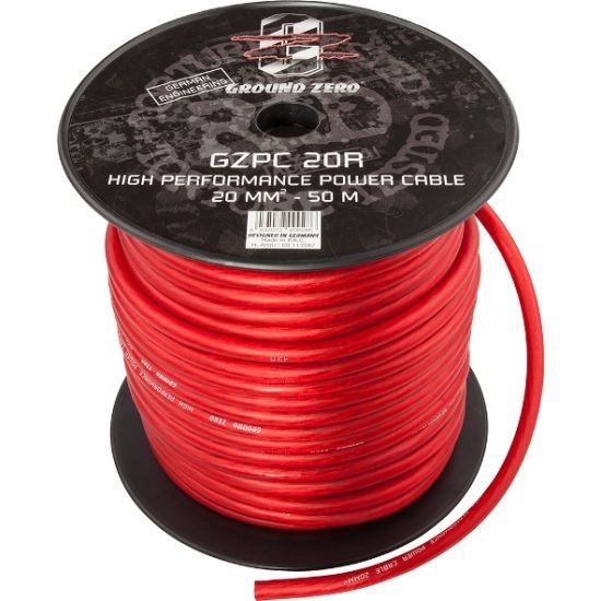 Ground Zero napájecí kabel 20 qmm GZPC 20R