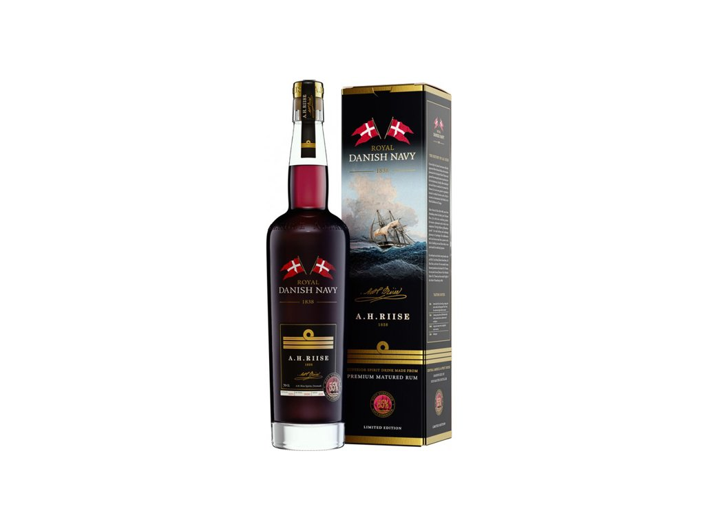 A.H.Riise Royal Danish Navy Rum 55% 0,7 l