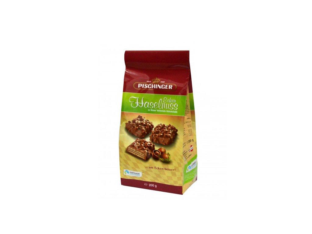 Pischinger - oplatky s mléčnou čokoládou a oříšky 200 g
