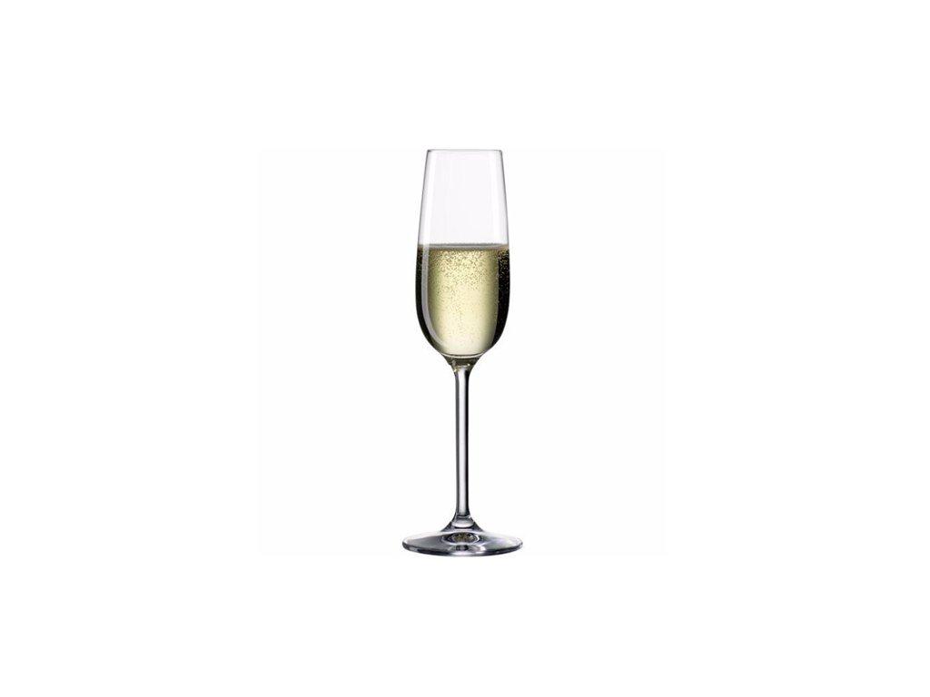 Sklenička na šampaňské Bohemia Cristal 19 cl